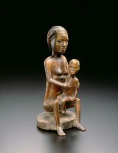 statua africana bambini