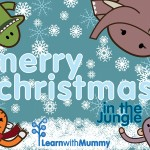 merry christmas from monkey tiger elephant crocodile 600
