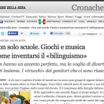 Bilinguismo sul Corriere della Sera