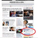 Quinto giorno di fila sulla homepage del Corriere