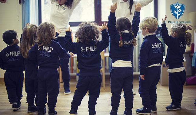 bambini che frequentano la scuola bilingue st philip a roma